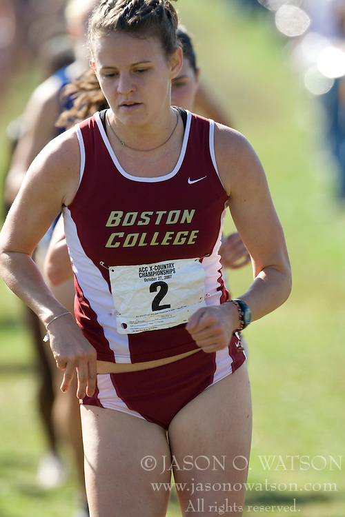 Boston College Golden Eagles Mallory Champs (2)..The Atlantic Coast Conference Cross Country Championships were held at Panorama Farms near Charlottesville, VA on October 27, 2007.  The men raced an 8 kilometer course while the women raced a 6k course.