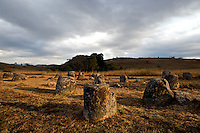 The mysterious plain of jars near Phonsavan, Laos in which hundreds of jars are spread across the northern region.  Anthropologists and archeologists have theorized that the jars may have been used as funeral urns or perhaps storage for food.  Lao stories and legends claim that there was a race of giants who once inhabited the area. Local legend tells of an ancient king called Khun Cheung, who fought a long, victorious battle against his enemy. He supposedly created the jars to brew and store huge amounts of lao lao rice wine to celebrate his victory.  No matter what the true story, the mysterious plain of jars make for an interesting visit.
