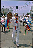 GLOUCESTER, MA- JUNE 29, 2003: Tony Barrie and his band the Tony Barrie Marching Band, perform during the annual celebration paying homage to St. Peter, the patron saint of fishermen in Gloucester, MA. The festa takes place on the weekend closest to the Feast Day of St. Peter, June 29. .(Photo by Robert Falcetti) . .