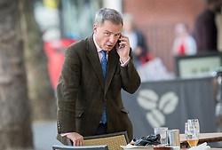 © Licensed to London News Pictures.18/04/2017.London, UK. UKIP deputy leader Peter Whittle talks on the phone outside a pub near Parliament. British Prime Minister Theresa May has called a surprise general election for June 8 th.Photo credit: Peter Macdiarmid/LNP