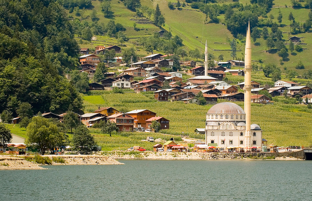 The Ozungul lake in north east Turkey