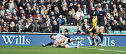 Twickenham, GREAT BRITAIN,   Cambridges' Andrew MURDOCH scoring a first half try,  2012 Varsity Rugby match.  Oxford vs Cambridge, at the RFU Stadium, Twickenham, Surrey. on Thursday  06/12/2012..[Mandatory Credit; Peter Spurrier/Intersport-images]