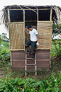 Eco-lavatories in the Amazonian community of San Fransico were designed and built by Alianaza Arkana.<br /> The organisation promotes properly maintained composting latrines, also known as dry latrines, for managing human waste. The design is cheap and simple, using two large chambers that are used in succession to provide ample time between the uses of each side to ensure complete decomposition of the organic material. Chambers can even be built out of eco-bricks.