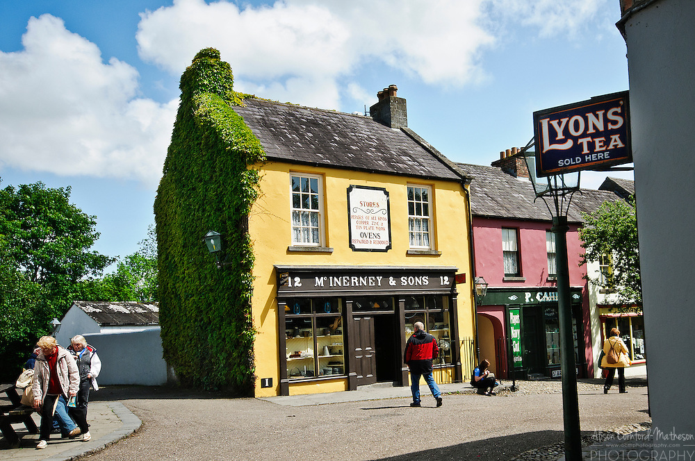 Bunratty Castle and Folk Park is  one of Ireland's biggest tourist attractions. It is maintained by Shannon Heritage and contains a castle, a village street, a church and several thatched cottages.