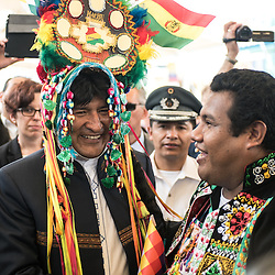 Foto Piero Cruciatti / LaPresse<br /> 12-06-2015 Milano, Italia<br /> Cronaca<br /> Giornata Sudamericana a Expo<br /> Nella foto: Evo Morales Ayma, Presidente dello Stato Plurinazionale della Bolivia <br /> Photo Piero Cruciatti / LaPresse<br /> 12-06-2015 Milan, Italy<br /> News<br /> South American day at Expo<br /> In the Photo: Evo Morales Ayma, President of Bolivia