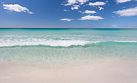 Crystal clear water and white sandy beach, Bay of Fires, Tasmania