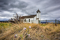 Images from a cloudy day at the historic McDougall church at Morely on the old Bow Valley Parkway. This is a beautiful spot and the Prairie Crocii in the fields surrounding it were incredible to see.<br /> <br /> &copy;2013, Sean Phillips<br /> http://www.RiverwoodPhotography.com