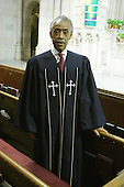 Rev. Al Sharpton preaches at Riverside Church