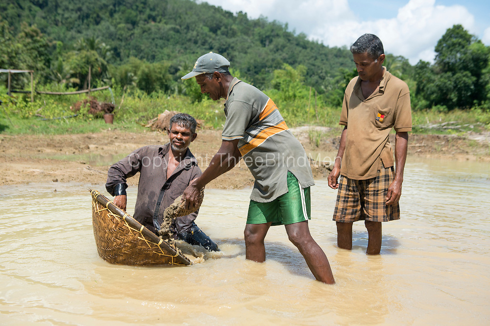 Gem mining in the Eheliyagoda area.