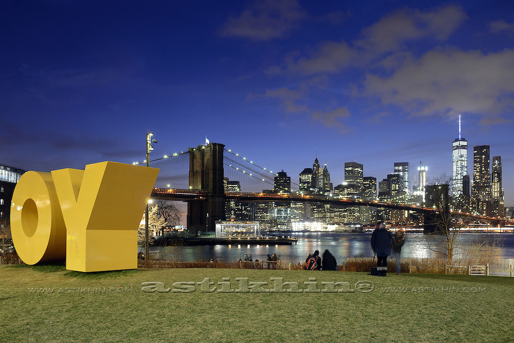 OY on Brooklyn Bridge Park's Main Street Lawn.
