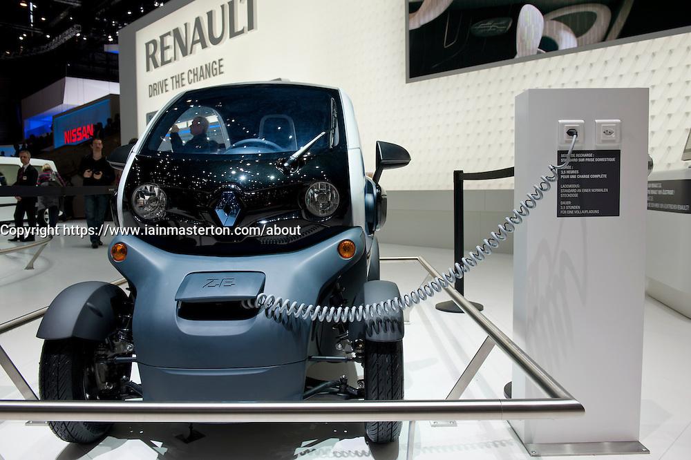Renault Twizy plug-in electric vehicle at the Geneva Motor Show 2011 Switzerland