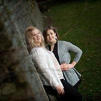 Iina Janhunen (L) and Kati Kononen (R) Finnish trainee nurses based in Aberdeen, Scotland.
