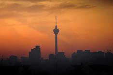 SEP 19 2013 The sun sets in Kuala Lumpur