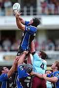 2005/06 Heineken Cup, Bath Rugby vs Bourgoin, Danny Grewcock collects the line out ball. The Rec, Bath,  ENGLAND:    29.10.2005   © Peter Spurrier/Intersport Images - email images@intersport-images..