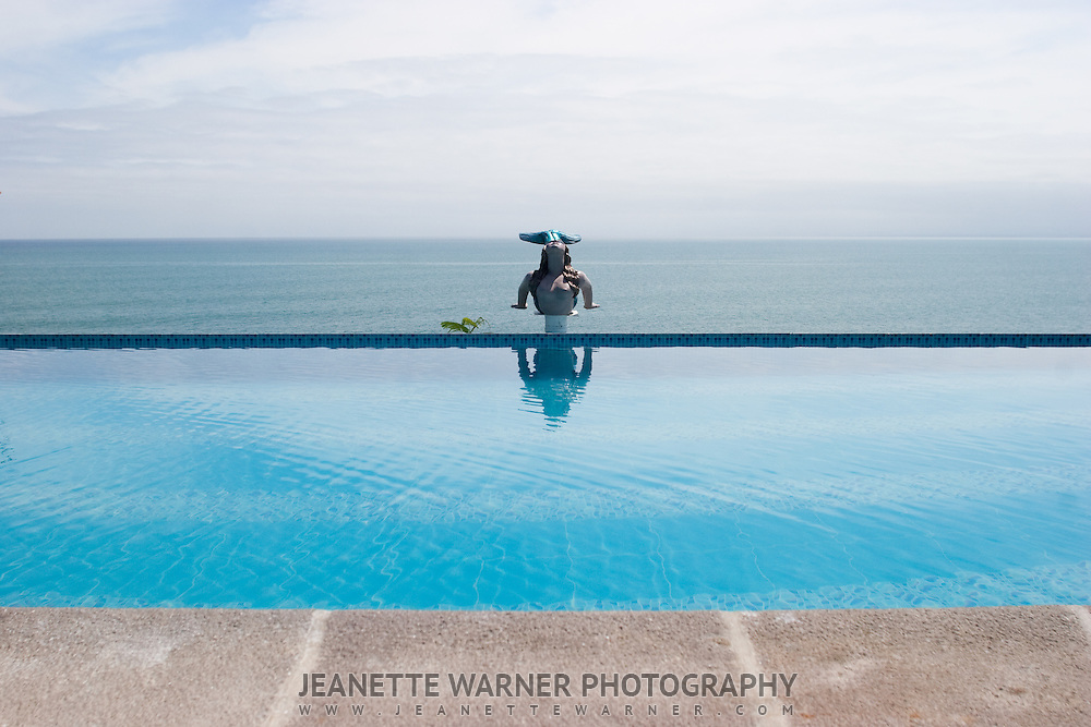 Infinity Pool at the Hosteria Farallon Dillon in Ballenitas, Ecuador.