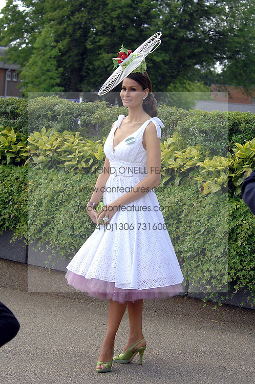 ISABELL KRISTENSEN at at the first day of the 2009 Royal Ascot racing festival on 16th June 2009.