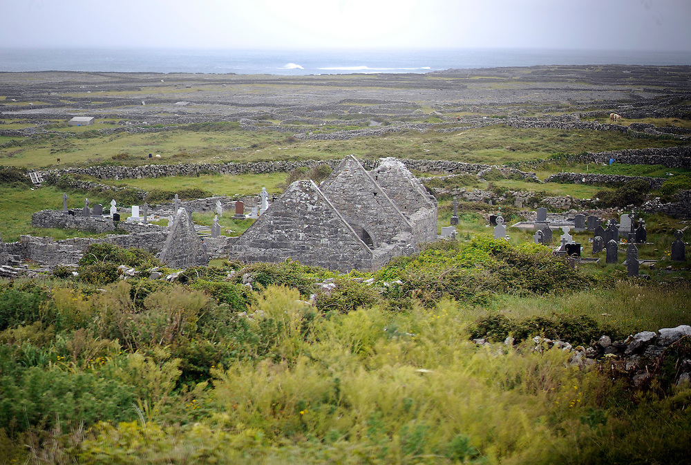 Ruins on Inishmore, the largest of the Aran Island, Co. Galway, Ireland.