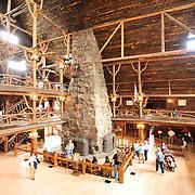 Inside the Old Faithful Lodge, Yellowstone National Park.  Wyoming, USA