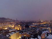 Salzburg old city in Winter