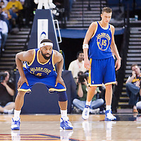 08 April 2008: Golden State Warriors guard Baron Davis is seen on defense during the Golden State Warriors 140-132 victory over the Sacramento Kings at the Oracle  Arena, in Oakland, California, USA.