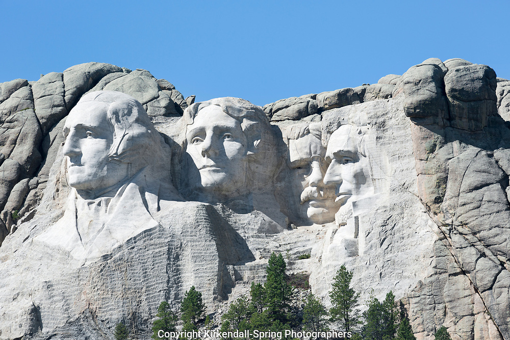 SD00002-00...SOUTH DAKOTA - Presendents George Washington, Thomas Jefferson, Theodore Roosevelt and Abraham Lincon  carved into a mountain side at Mount Rushmore National Memorial.