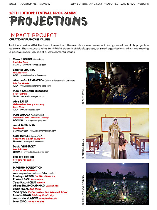 My project Saya Positif (I am Positif) will be shown at this year&rsquo;s Angkor Photo Festival in Siem Reap as a part of the Impact Project.<br /> <br /> http://angkor-photo.com/press-media/