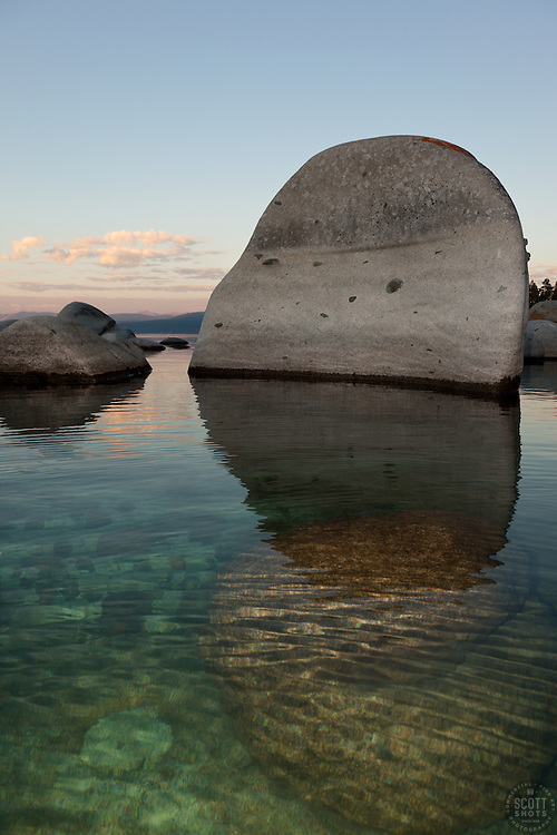 """Boulders at Lake Tahoe 11"" - These boulders were photographed in the early morning near Speedboat Beach, Lake Tahoe."