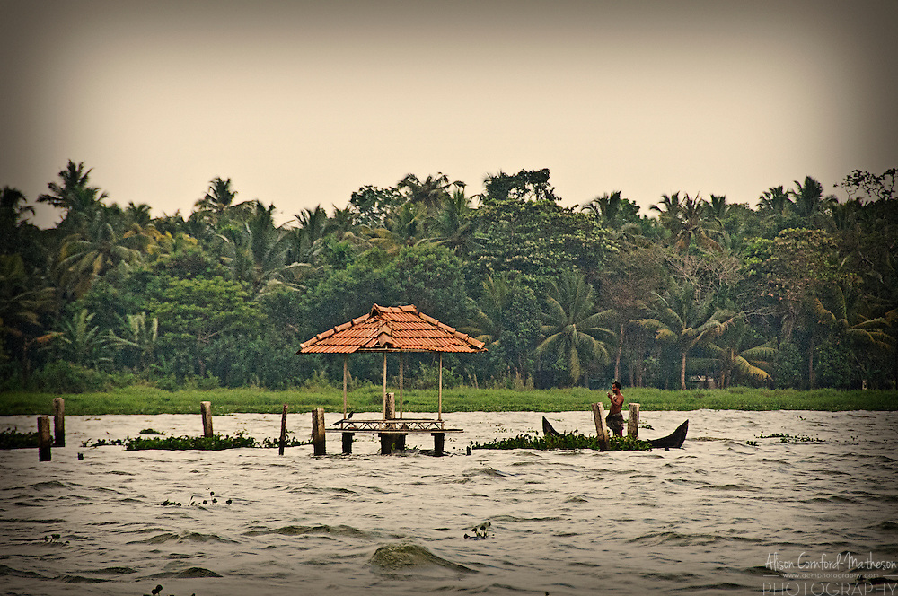 Fisherman on the Kerala Backwaters
