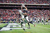 HOUSTON, TX - NOVEMBER 22:  J.J. Watts #99 of the Houston Texans goes up for a pass in the end zone but has it knocked away by Calvin Pryor #25 of the New York Jets at NRG Stadium on November 22, 2015 in Houston, Texas.  The Texans defeated the Jets 24-17.  (Photo by Wesley Hitt/Getty Images) *** Local Caption *** J.J. Watts; Calvin Pryor