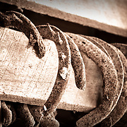 Horseshoes from another time.