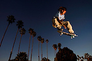 Kyle Burroughs, 21, appears to float his skateboard over Santa Barbara, California, where the 2005 International Film Festival included a lineup of 10 films featuring extreme sports.