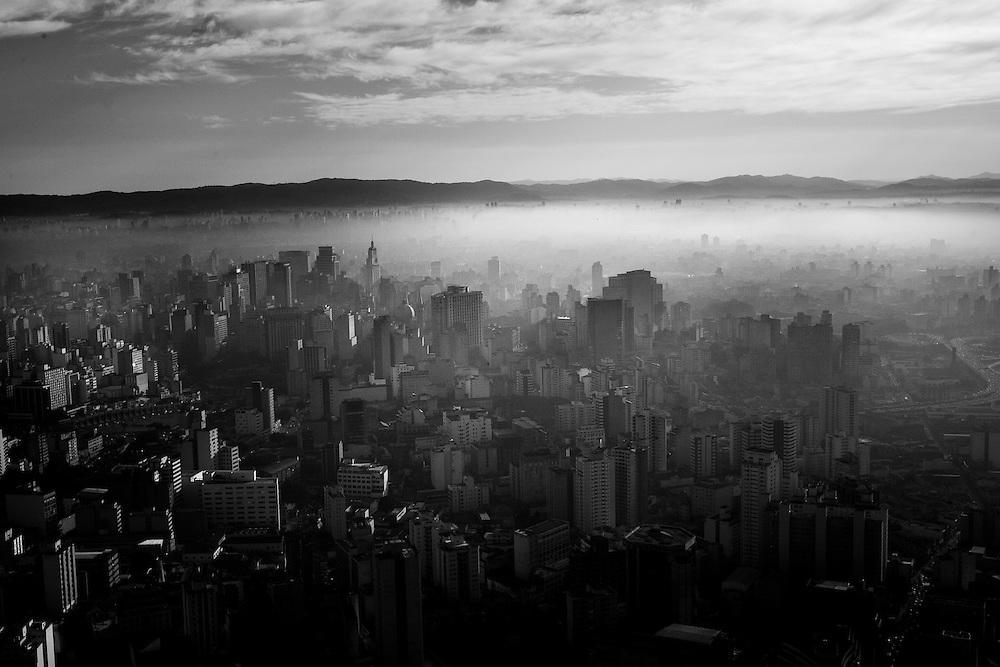 Sao Paulo, Brasil, June 14 of 2007: Aerial view of Sao Paulo downtown. Photo: Caio Guatelli