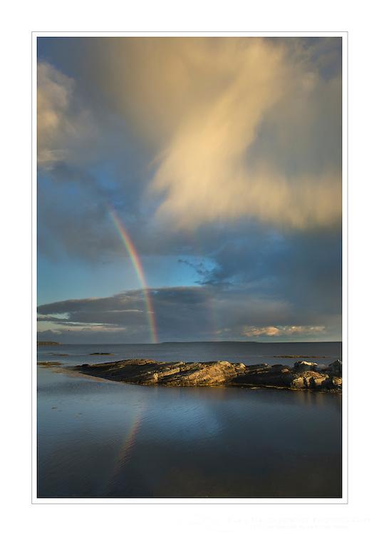 Rainbow over Blue Rocks, Nova Scotia