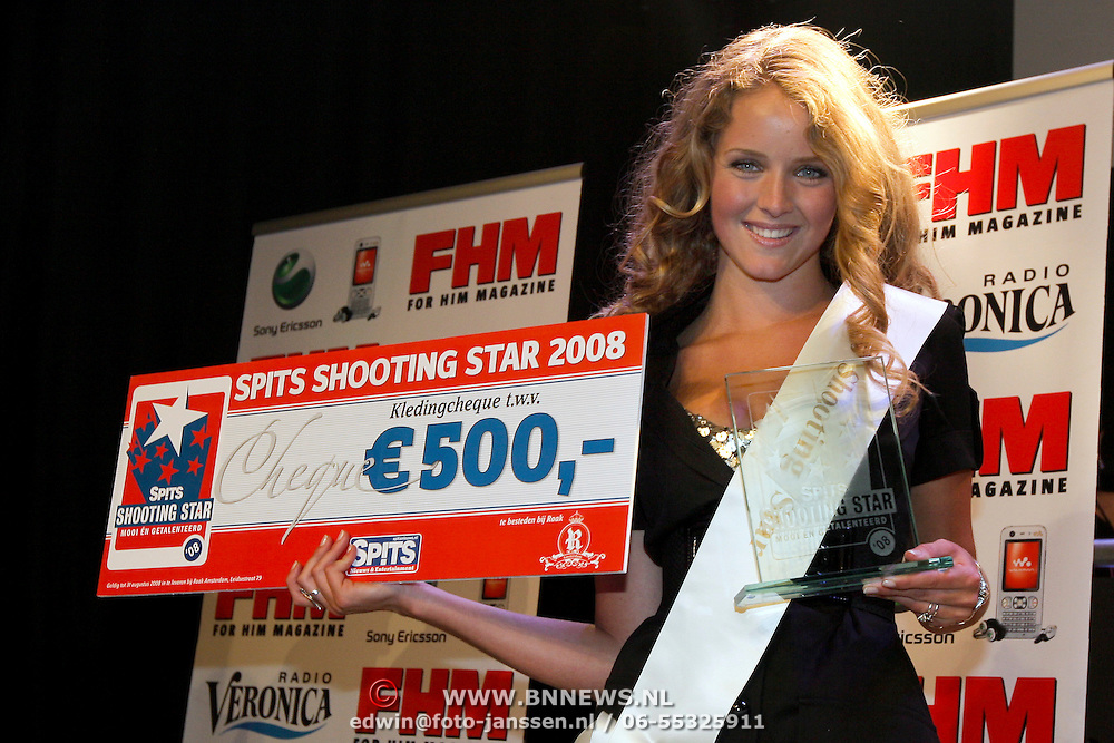 NLD/Amsterdam/20080513 - FHM 100 Sexiest vrouwen 2008, Liza Sips, winnares Spits Shooting Star 2008