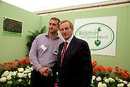 Taoiseach Enda Kenny Blaithin Irish Gown Plants at The National Ploughing Championships 2014.