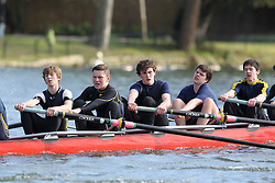 2012.02.25 Reading University Head 2012. The River Thames. Division 1. Reading Blue Coat School Boat Club J18A 8+