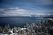 A view of the south shore of Lake Tahoe, Calif., February 28, 2012..