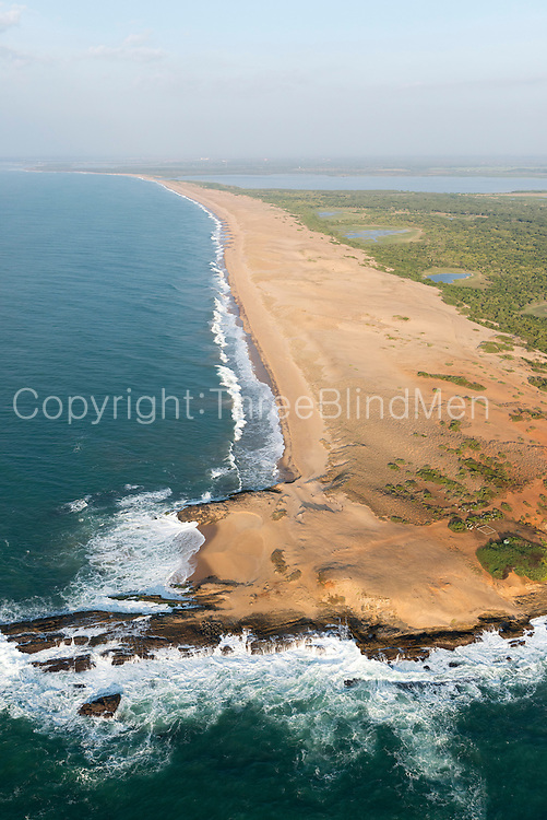 The Island from Above. The South coast near Hambantota.