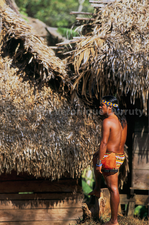 VILLAGE EMBERA, PARC NATIONAL CHAGRES, PANAMA