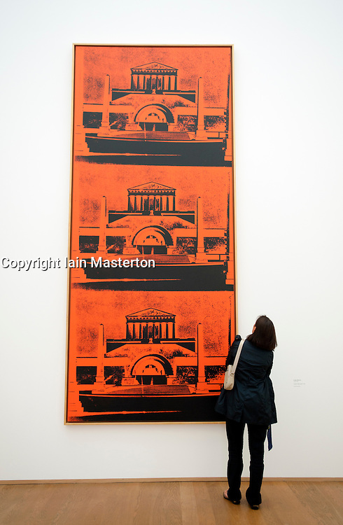 Painting Friedrich Monument by Andy Warhol at Hamburger Bahnhof Museum of Contemporary Art in Berlin Germany
