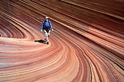 """The Wave, Coyote Buttes, Paria Canyon-Vermilion Cliffs Wilderness Area, Arizona. Published in """"Light Travel: Photography on the Go"""" book by Tom Dempsey 2009, 2010. For licensing options, please inquire."""