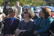 The late Dr. James W. Silver's children (from l.) Bill Silver, Betty Silver and Gail Silver, attend a dedication ceremony for Silver Pond, named for their dad, in Oxford, Miss. on Friday, September 30, 2011. James W. Silver joined the Ole Miss faculty in 1936 and served as chair of the history department from 1946 to 1957. During the segregationist era, Silver was frequently at odds with state political leaders, but never daunted by them. He was a constant critic of racial taboos and spoke out against them, often in letters to the editors of various newspapers in the region. His 1964 treatise, ÒMississippi: The Closed Society,Ó became one of the most talked-about books to come out of the state during the period.