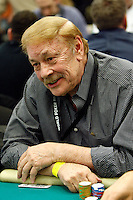 3 March 2007: Celebrity actor NBA owner Dr. Jerry Buss playing a poker hand in action  during the fifth annual WPT Invitational at the Commerce Casino in Los Angeles, CA.