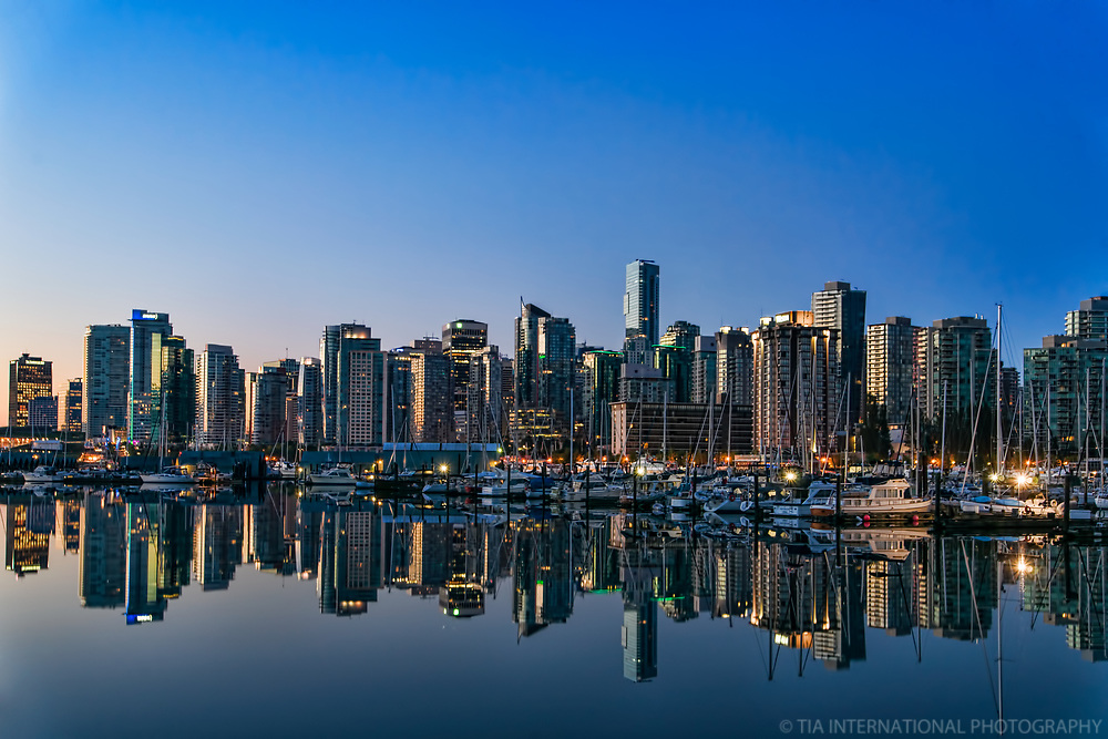 Vancouver Skyline at Sunrise, Coal Harbour