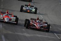 Dario Franchitti, Helio Castroneves,  Meijer Indy 300, Kentucky Speedway, Sparta, KY 010809 09IRL12