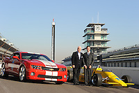 Chevrolet Indy Car engine announcement.  Roger Penske, Randy Bernard