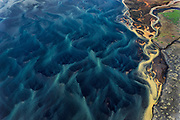 Iceland's Ytri-Rangá River carries glacial sediments as it flows towards the Atlantic, July, 2014.
