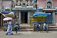 17/12/08 - PONDICHERY - TAMIL NADU - INDIA - Hindu Temple in Pondicherry - Photo Jerome CHABANNE