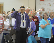 Memorial Day service at the National Guard Armory in Oxford, Miss. on Monday, May 31, 2010.