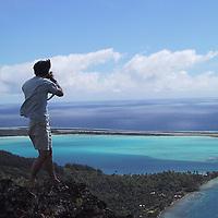 Eric Cheng on assignment in Bora Bora, French Polynesia
